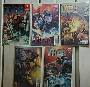 The Unworthy Thor 1-5 Marvel 2016 Aaron Coipel