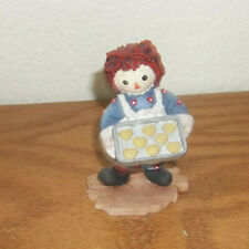 """Raggedy Ann & Andy """"Life is What You Make it"""" Enesco w/Cookies Figurine- #709107"""