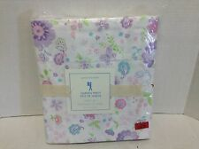 Pottery Barn Kids Garden Party floral Twin Lavender Purple Bed Sheets Set floral