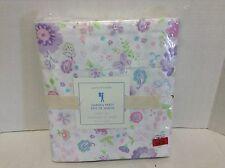 Pottery Barn Kids Garden Party floral Twin Lavendar Purple Bed Sheets Set floral