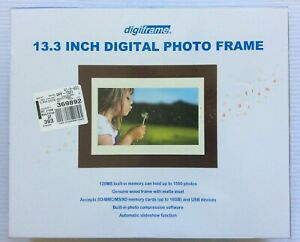 NEW DigiFrame 13.3 Inch Digital TFT LCD Photo Frame 128MB Memory AC 1500 Photos