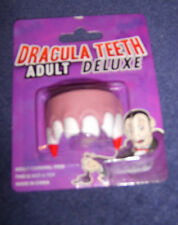 Adult Deluxe Dracula Teeth Vampire Top Set Very Soft Fancy Dress Party New