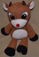 """14""""Rudolph Red Nosed Reindeer Plush Dolls Christmas Sings Why Am I Such A Misfit"""