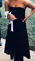 Scanlan Theodore Black Strapless Wrap Dress Rrp$550 6-8