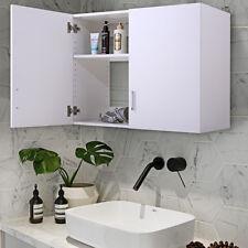 32 Wall Mount Bathroom Cabinet Storage Organizer Medicine Kitchen White