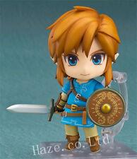 The Legend of Zelda Breath Of The Wild Nendoroid Link PVCFigura Figurilla Modelo