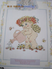 DREAMSICLES FLOWER GARDEN BABY ANGEL COUNTED CROSS STITCH KIT #48008 LEISURE ART