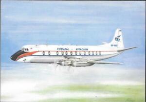 AIRLINE ISSUE POSTCARD - CUBANA - VISCOUNT