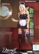 NWT Maids Costume Black W/ Pink SZ S