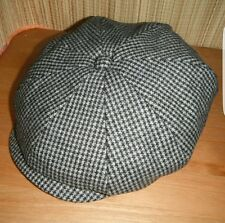 Fabulous Stetson dog tooth wool blend 8 panel bakerboy hat, sz large, FREEPOST