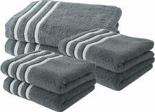 Lot de 4 Serviettes de Toilette + 2 Draps de Douche 70x140 cm 100% Coton - 550