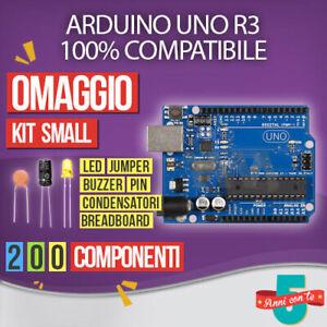 KIT ARDUINO UNO REV 3 CON MICROCONTROLLORE ATMEGA328 RESISTENZE CONDENSATORI LED