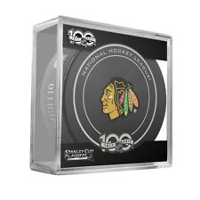 2017 NHL Chicago Blackhawks Stanley Cup Playoffs Official On-Ice Hockey Puck