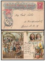16619 - UNITED STATES 1906 UNIVERSAL POSTCARD FRANKED PHILADELPHIA TO BERLIN