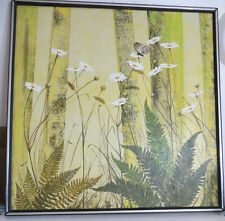 Beauty!listed California MABEL SPECIALE  midcentury O/C still lif floral 29x29