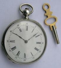 ANTIQUE HALDIMANN CHOPARD KEY WIND SILVER 0.800 WOMEN'S POCKET WATCH SWISS 1869