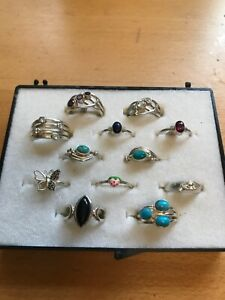 Sterling Silver (925) Rings with REAL gemstones PRICE NOW REDUCED