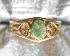 Elegant Jade Gold-tone Ring 1960s vintage
