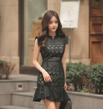 ✔COD Elegant Black Emroidered Material Party Special Occassion Dress AFK061251