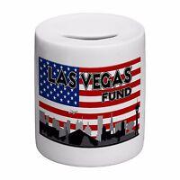 America Las Vegas Holiday Fund Skyline Novelty Ceramic Money Box
