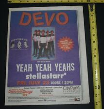 Devo 2004 Concert Ad Central Park Summer Stage NycSpecial guest Yeah Yeah Yeahs