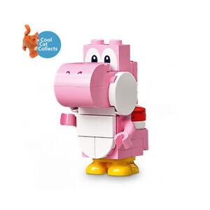 Lego Super Mario Pink Yoshi Buildable Minifigure (mar0064) + Scanner Code 71387