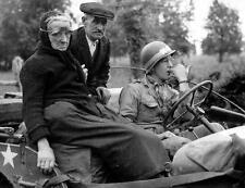 Photo. WW2. France. Elderly Couple in Jeep