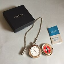 Citizen Pocket Watch Coca Cola Limited Made In Japan
