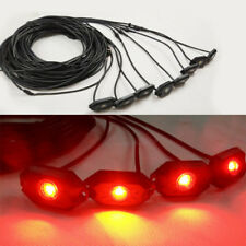 8 Pods Red OffRoad LED Rock Light Kit Strobeflash Chasing For Truck Boat ATV SUV