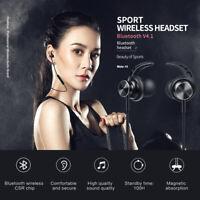 Fineblue Magnetic Wireless Bluetooth Headset Earphone Neckband Sport Headphone R