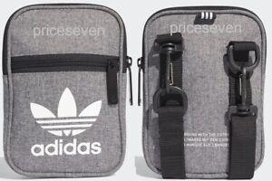 adidas Originals Trefoil Grey/White Unisex Festival Pouch Shoulder Bag  *NEW