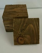 2 Wooden Coasters Walnut Stain Reclaimed palette bois shabby/Industrial Chic