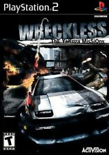 WRECKLESS THE YAKUZA MISSIONS Sony PS2 Playstation 2 Black Label