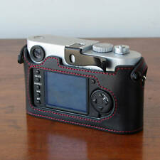 Mr.Zhou Black Half Case Red Stitch f/ Leica M8 M9 M9P Accommodate Thumbs Up Grip