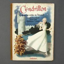 Vintage Illustrated French Fairy Tale Contes de Perrault, Cinderella, Donkeyskin