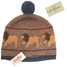 Cath Kidston Cath Kids Lambswool Hat Lion Intarsia (brown) 100% authentic BNWT