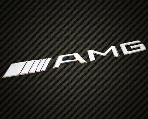 Mercedes Benz AMG Logo Emblem Badge Chrome CL SLK SL C63 C200 C250 E63 E200 ML