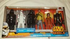 """Star Wars Six 12"""" Figure Set Heroes and Villains New and Sealed"""