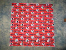 "NFL NEW ENGLAND PATRIOTS RED XL 25"" HEAD BANDANA / CHEERING CLOTH - APPROX 25"""