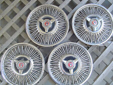 1964 1967 FORD FALCON RANCHERO HUBCAPS WIRE WHEEL COVERS CENTER CAPS 13 IN.