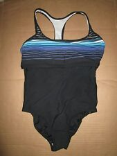 Womens LANDS END one piece bathing suit swimsuit padded self bra sz 14