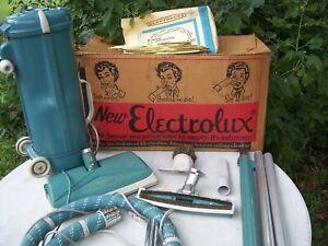 Vintage Electrolux Model L vacuum cleaner w/power nozzle & attachments - Bags