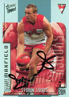 ✺Signed✺ 2004 SYDNEY SWANS AFL Card STUART MAXFIELD