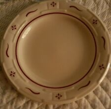 """7.5"""" Longaberger Traditional Red Bread Plate New but no box, Woven Traditions"""