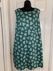 Boden Green White Print Summer Casual Dress Size 18-20 Stretch