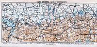 Alpi Bavaresi Bayerische Alpen 1934 orig. Karte + Reisef. in italiano (29 S.)