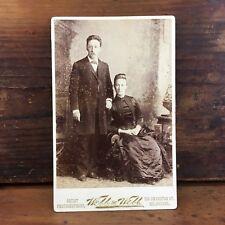 c.1880 PHOTOGRAPH CABINET CARD BY WEBB & WEBB 136 SWANSTON ST MELBOURNE
