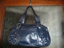 TULA BLUE/NAVY LEATHER BAG  NEW