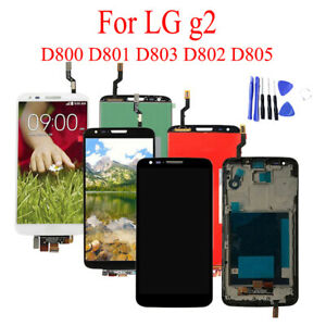 For LG G2 D800 D802 D805 Repair LCD Display Touch Screen Digitizer Assembly