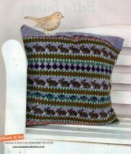 ~ Pull-Out Knitting Patterns For Fair Isle Cushion,Toy Bunny & Lady's Sweater ~